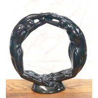 Vintage Ceramic Infinity Statue
