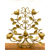 Gold Metal  Birds Candelabra