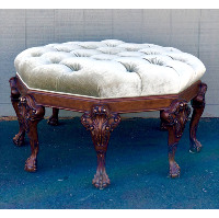 Sage Upholstered Round Settee