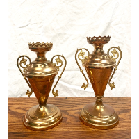 Antique French Candleholder Set