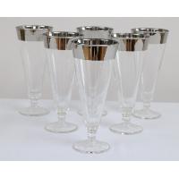 Silver Rimmed Pilsner Glasses