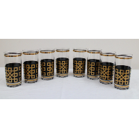 Black and Gold Geometric Patterned Tumblers