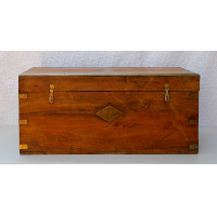 Wooden Trunk w/Brass Details