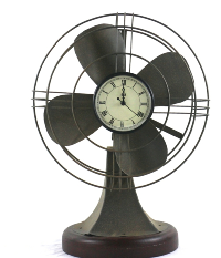 Vintage Fan with Clock Face