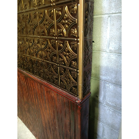 Large Copper and Wainscoat Wall Panel