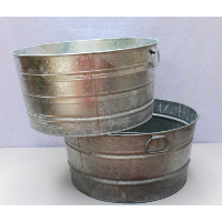 Large Galvinzed Metal Drink Tubs
