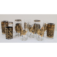 Black and Gold Tumblers, Various Patterns