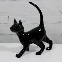 Ceramic Black Cat Figurine