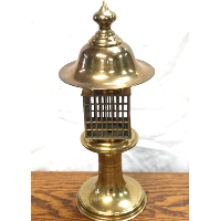Japanese  Style Brass Candle Holder