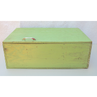 Rustic Wooden Green Box/Chest