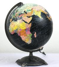 Illuminated Black Globe