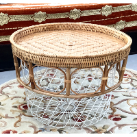 Tangiers Wicker-and-Wire Coffee Table