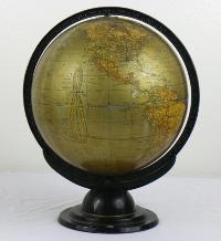 Antique Golden Globe