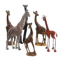 Hand-Carved Wooden Giraffes