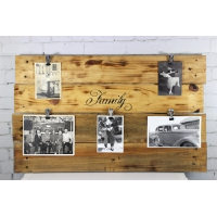 Wooden Family Photo Board