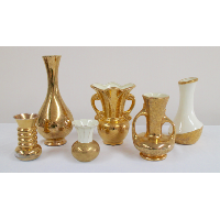 Assorted Gold and Ivory Vessels