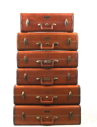 Vintage Leather Suitcase Stack
