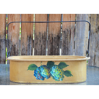 Wooden Caddy with Grapes