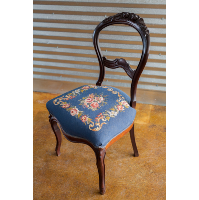 Harriet Embroidered Side Chair