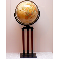 Standing Globe With Wood and Metal Base
