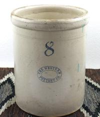 Antique Eight-Gallon Stoneware Crock