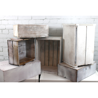 Rustic White Wooden Crates