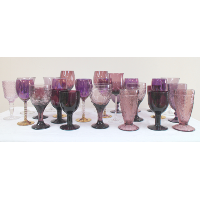 Assorted Purple Glassware