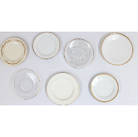 Gold, Glass, and Ivory Fine China Salad Plates