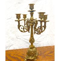 Ornate Brass Candelabra
