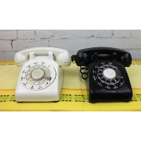 Black or White Rotary Dial Telephones