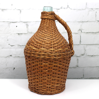 Italian Wine Decanter with Basket Cover