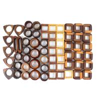 Danish Modern Wood Napkin Rings