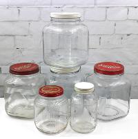 Vintage Glass Jars with Lids