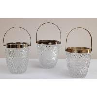 Vintage Cut Glass Ice Caddies