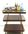 Three-Tier Retro Bar Cart