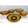Retro Amber Glass Ashtrays