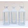 White Glass-Fronted Lanterns