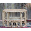 Bentwood and Wicker Side/Coffee Table
