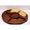 Wooden Divided Serving Tray