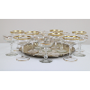 Assorted Gold Rimmed Champagne Coupes