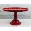 Red Ceramic Cake Stand