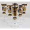 Gold Crest Pattern Pilsner Glasses