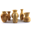 Small Wooden Vases