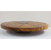 Large Wooden Rotating Serving Stand