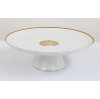 Gold Edged Cake Stand With Shell Pattern