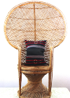 Wicker Peacock Throne Chair