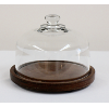 Large Wooden Cake Stand With Glass Dome