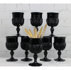 Black Milk Glass Goblets