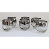 Retro Roly Poly Silver-Rimmed Cocktail Glasses