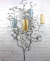 6' Tall Silver Metal Tree Candelabra
